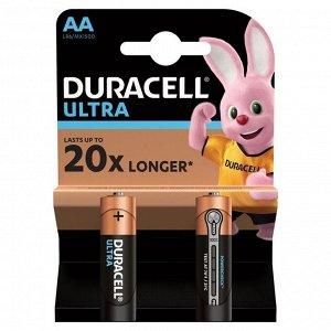 Батарейка Duracell UltraPower AA (LR06) алкалиновая, 2BL
