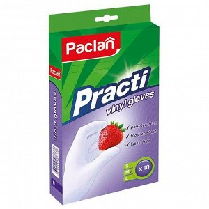 "Перчатки виниловые Paclan ""Practi"", M, 10шт., картон. коробка с европодвесом"