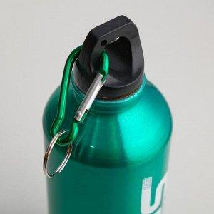 """Фляжка-бутылка для воды """"Мастер К."""" 650 мл, с карабином, микс"""
