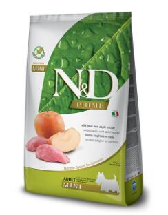 Farmina N&D Dog Prime Grain Free сухой беззерновой корм для собак мелких пород Кабан/Яблоко 800грг