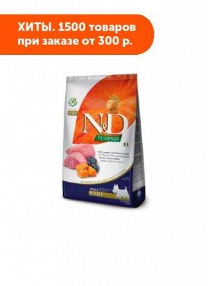 Farmina N&D Grain Free Pumpkin Adult Mini сухой беззерновой корм для собак мелких пород Ягненок/Черника/Тыква 2,5кг