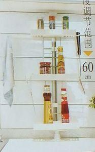 Полка для кухни, 3 яруса, распорная, металл, пластик, 930 х 260 х 115 мм, 1/20