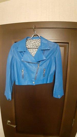 Куртка кожаная K*O*R@K*O*R Италия Синяя!!