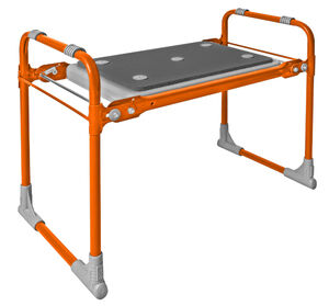Скамейка садовая, с мягким сиденьем, складная, изолон, металл, оранжевый, 425 х 560 х 300 мм, 1/1