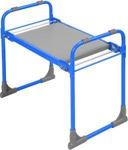Скамейка садовая, с мягким сиденьем, складная, металл, голубой, 425 х 560 х 300 мм, 1/1