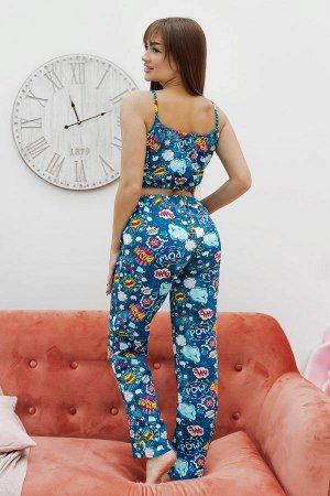 Пижама топ с брюками ПЖ 023 (BOOM)