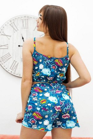 Пижама топ с шортами ПЖ 024 (BOOM)