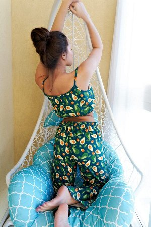 Пижама топ с брюками ПЖ 023 (Авокадо)