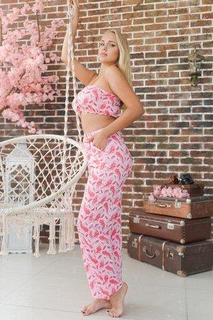 Пижама ПЖ 015 (Перышки розовые)