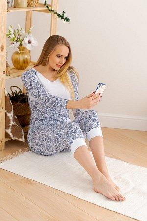 Пижама для беременных 05-654 (Огурцы на белом)