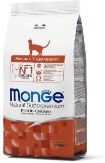 Monge Cat Senior корм для пожилых кошек 1,5 кг