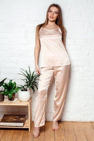 Шёлковая пижама ПЖ 008 (Нежно-розовая)
