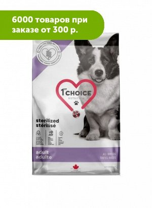 1'st Choice Sterilized сухой корм для стерилизованных собак Курица 3,2кг