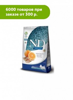 Farmina N&D Dog Ocean Grain Free сухой беззерновой корм для собак мелких пород Рыба/Апельсин 800гр