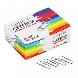 ClipStudio Скрепки металлические оцинкованные 25мм, 100шт в картонной коробке