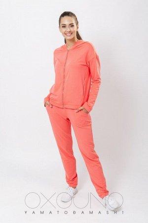 Комплект толстовка/брюки:жен. МОДЕЛЬ 2. Живой коралл