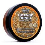 Марокканский натуральный медовый солевой скраб Orange Honey цветочный мед и морская соль Hammam Organic Oils