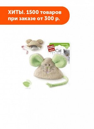 GiGwi Мышка с кошачьей мятой/ткань 8см