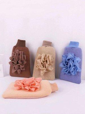 1шт многофункциональная отшелушивающая перчатка для ванны случайного цвета