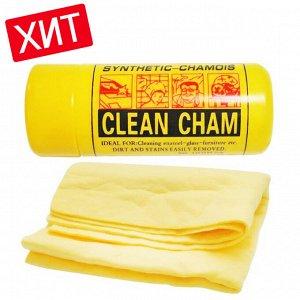 """Искусственная замшевая салфетка """"Clean cham"""" / 1 шт."""