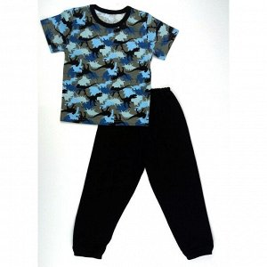 Пижама 638/5 (синяя,тираннозавр)