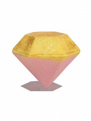 Бомбочка для ванны с блестками и ароматом клубники - 100g