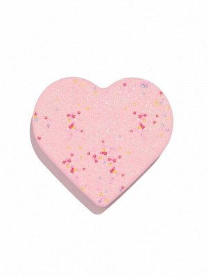 Бомбочка для ванны в форме сердца с блестками и ароматом конфет 100 г