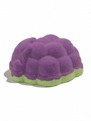 Бомбочка для ванны двухцветная с ароматом винограда-100g