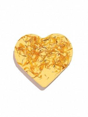 Бомбочка для ванны в форме сердца с ароматом натуральной ромашки-100г
