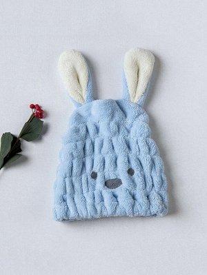 1шт плюшевая шапочка для сушки волос в форме кролика