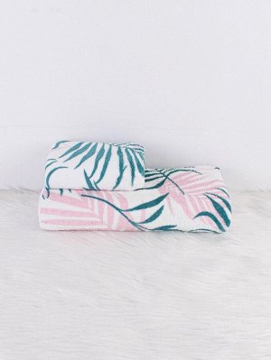 2шт набор полотенец и банных полотенец с узором растений