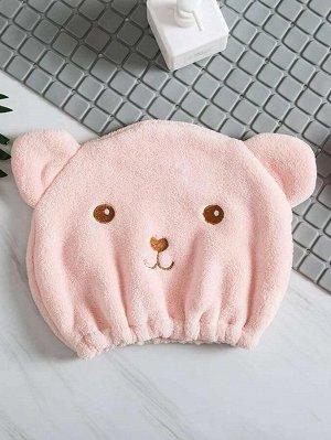 Шапочка для сушки волос в форме медведя