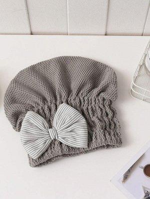 1шт шапочка для сушки волос с бантом