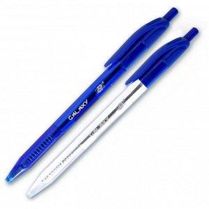 Ручка шариковая DP Galaxy арт.753413/12 синяя,  цвет чернил синий, треугольный корпус 2 цв., автом., метал. игольчатый након., диаметр шарика 0,7мм