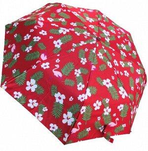 Автоматический женский зонт фламинго