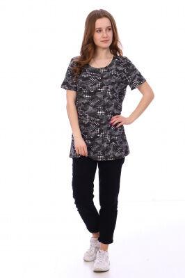 Футболка Цвет: хаки; Состав: Хлопок 100 %; Материал: Кулирка Стильная футболка на лето, представлена в двух расцветках. Хорошо сочетается с любыми джинсами и юбочками.