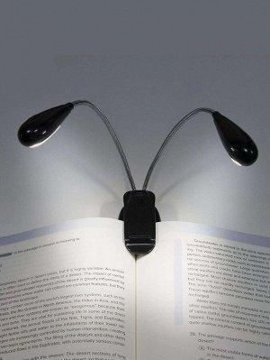Двухголовочная настольная лампа с зажимом