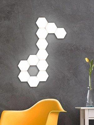 Настенный светильник в форме шестиугольника 1шт