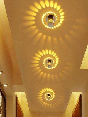 Спиральная светодиодная настенная лампа