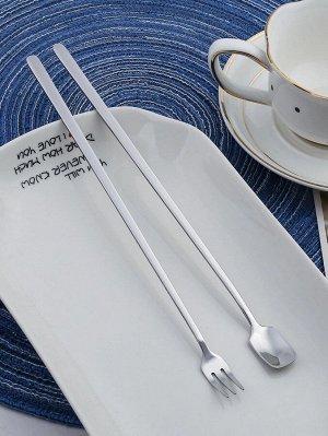 2шт ложка и вилка с длинной ручкой