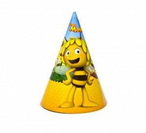 Колпак бумага Пчелка Майя набор 8 шт