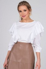 Блузка Агнесс №1. Цвет:белый