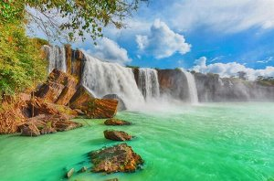 Алмазная живопись - мозаика Водопад