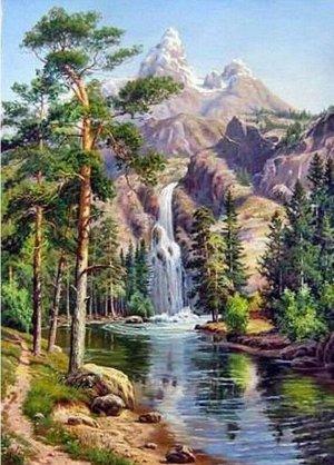 Алмазная живопись - мозаика Талые воды