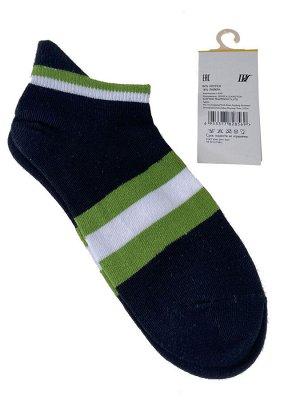 Женские носки в полоску с высокой пяткой, цвет чёрный