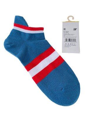 Женские носки в полоску с высокой пяткой, цвет бирюзовый