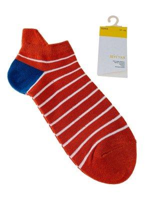 Женские носки в полоску с высокой пяткой, цвет красный