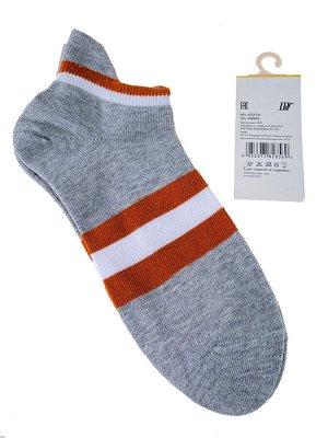 Женские носки в полоску с высокой пяткой, цвет серый