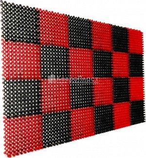 Травка 56х84 см черно-красная