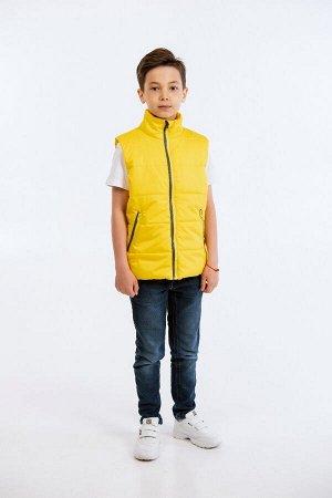 """Жилет для мальчика """"Смайл"""" желтый"""